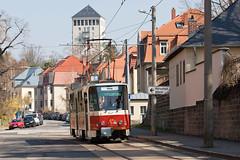Tatra T6A2 226 001-2 (rengawfalo) Tags: strasenbahnmuseumdresden oldtimer tram tramway dresden tatra t6a2 sachsen saxony strasenbahn train railroad bahn dvbag tranvia tramvaj ckd elektricka öpnv publictransport urbanrail tramwaj sporvogn road car building