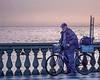 Pescatore alla Terrazza (Fabio Pratali LI) Tags: people terrazzamascagni livorno bike pescatore mare tramonto
