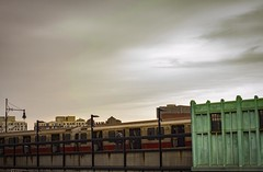 train station 2 (richardroyle) Tags: beautiful different special amateur boston massachusetts city urban cityscape landscape artsy artistic dslr nikon d3100 hipster editing colorful colored color contrast colores diferente artistica ciudades ciudad calle personas people spring winter cold cool invierno arboles trees tree texture train tren green yellow orange red dark moody sky cielo sunset sun sunny lighting