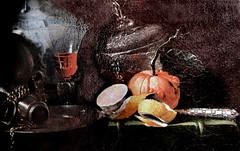 IMG_2235BB Willem Kalf. 1619 1693. Amsterdam. Nature morte à la gourde d'argent. Still Life with a silver flask. Rouen. Musée des Beaux Arts. (jean louis mazieres) Tags: peintrespeinturespaintingmuséemuseummuseofrancenormandierouenmusée des beaux artswillem kalf