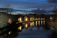 River Kent in Kendal (Roger Wasley) Tags: river kent kendal cumbria night dark lakedistrict