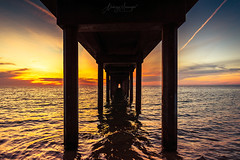 Dramatic sunset view from under Brighton Jetty (spotandshoot.com) Tags: adelaide australia brighton jetty ocean south sunlight awesome beach beautiful calm clouds coast colorful destination dramatic dream dusk evening horizon horizontal landscape long nature oceania outdoor paradise pathway peaceful perspective picturesque pier scenery scenic sea seascape season shore silhouette sky summer sun sunset tourism travel vacation vibrant view water waves weather sa