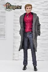 Men Fashions by ELENPRIV (elenpriv) Tags: men fashions elenpriv fr homme elena peredreeva handmade clothes coat gray integrity toys jason wu doll