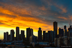 Melbourne sunset (NettyA) Tags: australia melbourne southbank victoria buildings city clouds silhouette skyline sunset
