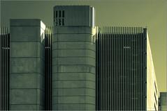 Grim Architecture (mikeyp2000) Tags: airport building monochrome carpark contrasty concrete architecture splittone zurich