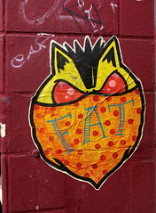 streetart in Hamburg (wojofoto) Tags: hamburg germany deutschland streetart pasteup wojofoto wolfgangjosten superfatcat fatcat sfc