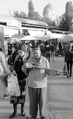 The Tashkent Plucker (peterkelly) Tags: bw digital canon 6d asia uzbekistan centralasiaadventurealmatytotashkent gadventures tashkent chorsubazaar market bazaar old man dome mosque instrument stringed player playing