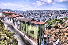 Santiago Chile (jillrowlandwv) Tags: chile street streetlife colorful road sky blue architecture patagonia tourist tour travel tourists canon canonphotography canonphotographs canonphotos adventure hiking walking outdoors scenery