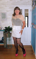 "Pink Shoes (Trixy Deans) Tags: crossdresser cd cute crossdressing crossdress classy classic corset skirts skirt"" shemale shortskirts sesxy xdresser sexy sexytransvestite sexyblonde sexylegs tgirl transsexual tv trixydeans"
