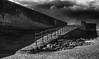 (see it, shoot it) Tags: silverefex fuji s5pro mono slipway railing wall sky cloud beach newbrighton wirral rocks sand