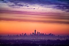 Manhattan Sunrise (Derek Boen) Tags: sunrise newyorkcity manhattan sky skyline westorange pentaxk1