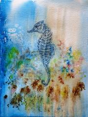 Hipocampo (benilder) Tags: acuarela aquarelle watercolor watercolour caballitodemar marina hippocampe hippocampus benilde