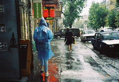 rainy days (Lena Kanshyna) Tags: ukraine urban ukrainian summer kanshyna kyiv kodakgold kiev kodak street city rain wet girl noidentity walking mju2 melancholy olympus olympusmju2 film filmphoto early 35mm 35mmphotography exploring
