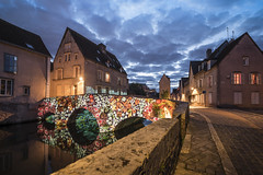 Blooming bridge (Sizun Eye) Tags: illumination illuminated ville oldtown chartres bridge stonebridge normandie france sizuneye nikond750 nikon1424mmf28 nikkor night evening street town historic