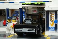 Auto Sales (captain_joe) Tags: dodge charger toy spielzeug 365toyproject lego minifigure minifig moc car auto joescars