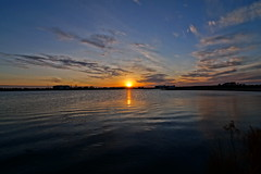 By Fuglsang sø (HDR) (Steenjep) Tags: sunset solnedgang sol himmel sun sky cloudy sø lake fuglsangsø fuglsang herning tjørring hdr