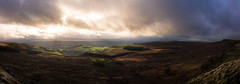 lightshow (panarama) (Phil-Gregory) Tags: nikon naturephotography naturalphotography national nature natural ngc naturalphotograph d7200 derbyshire dof peakdistrict panorama scenicsnotjustlandscapes sky southyorkshire stanageedge countryside clouds cloudscape classic roman road england uk wideangle ultrawide lightroom
