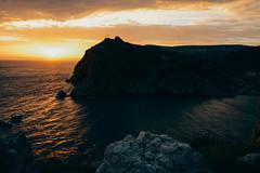 one of sunset (alinaboronina21) Tags: sunset red orange sea crimea sky nikon