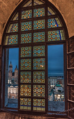 From a window (Vagelis Pikoulas) Tags: window clock krakow poland old town square architecture view travel photography urban city cityscape canon 6d tokina 1628mm landscape 2017 november autumn holidays