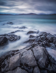 Hebridean Blues (Vemsteroo) Tags: harris hebrides lewis isleofharris borve luskentyre beach rocks sand cove sea seascape taransay island scotland scottish water waterscape canon 5d mkiv 1635mm leefilters bigstopper longexposure circularpolariser dramatic outdoors travel exploring