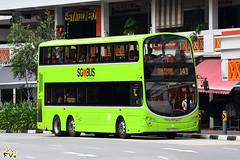 Tower Transit Volvo B9TL 12m (Wright Gemini Eclipse 2 bodywork) (kenli54) Tags: towertransit tower volvo volvob9tl bus buses b9 b9tl singapore singaporebus singaporebuses doubledeck doubledecker wright wrightbus gemini eclipse lushgreen lta bcm 143 sbs3368x