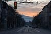 Sunset in Sofia (Adrià Páez) Tags: sunset sofia bulgaria city capital road vitosha mountain trafficlight cars trees buildings canon eos 7d mark ii balkans europe sky clouds