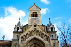Historic Monument Budapest (kyriakides_e) Tags: budapest hungary sky clouds blue church monument historic history old building architecture culture