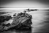 Jagged (Marion McM) Tags: red rocks stones sea sky longexposure motion blur monochrome blackandwhite cellardyke fife scotland landscape canoneos760d