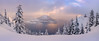 Mystic Wizard | Crater Lake, Oregon (v on life) Tags: craterlake oregon craterlakenationalpark sunset dusk clouds mist fog pano panorama panoramic snow winter wizardisland trees