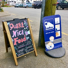 Quare Nice Food (JulieK (thanks for 6 million views)) Tags: fethardonsea wexford sign sunday signsunday iphonese street ireland irish 2018onephotoeachday funny hww blackboard cars