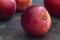 Red apples (Hanna Tor) Tags: closeup vintagelens fruit table hannator kitchen sweet tasty
