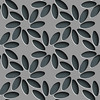 Seamless Flower Pattern (www.layerplay.design) Tags: graphic fabric pattern wrapping surface wallpaper seamless perforated chrome tile layout ornament lattice vector tech shadow element black gray fashion technology shape repeat hole abstract elegant modern geometric decorative texture metallic design mosaic grid art mesh background structure textile metal eps10 3d regular volume plate print flower floral nature