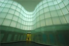 aurora borealis architecturiensis (Bernergieu) Tags: italy architektur architecture italia milano mailand glas grün glass green mint kunst mudec art lookingup museum