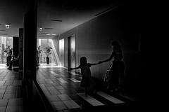 20180428 Reflection (soyokazeojisan) Tags: japan osaka 梅田 reflection bw city light people family blackandwhite monochrome digital 2018 olympus em1markⅱ 12100mm
