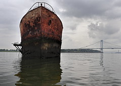 The SS Tetanus (95wombat) Tags: eastriver bronx newyorkcity abandoned derelict ship rust rot decay corrosion