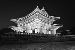 Gyeongbokgung Palast (Seoul) (frank.gronau) Tags: white black weis schwarz korea seoul palast gyeongbokgung alpha sony gronau frank