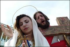 (Geez!) (Robbie McIntosh) Tags: leicam9p leica m9p rangefinder streetphotography 35mm leicam autaut candid strangers leicaelmarit28mmf28iii elmarit28mmf28iii elmarit 28mm eyecontact comicon jesuschrist jesus christ religion madonna mary