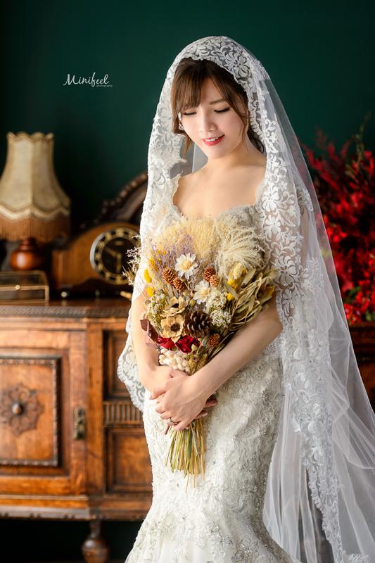 cheri婚紗包套, jh florist, 自助婚紗, 乾燥捧花, 復古蕾絲, 新祕BONA, 蕾絲頭紗,DSC_1340-1