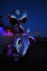 balloon dog (rafasmm) Tags: berlin city street nikon d90 sigma 1020 ex night dog club balloon outdoor color germany