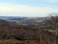 Grindleford from Surprise View, March 2018 (Dave_Johnson) Tags: surpriseview surprise view peakdistrict nationalpark peaks hills derbyshire longshaw longshawestate hopevalley valley grindleford village chatsworthestate upperpadley