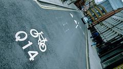 Q14 (Sean Batten) Tags: london england unitedkingdom gb southwark road streetphotography street nikon d800 50mm sign city urban traffic roadmarkings letters numbers