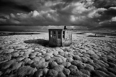 Lone Watch (Ger208k) Tags: ireland mayo downpatrickhead observationhut lookout ir infrared ww2 isolated blackandwhite landscape gerardmcgrath