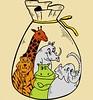 Cute Cartoon Jungle Animals in Sack Vector T-shirt Design (stockgraphicdesigns) Tags: africa african amphibian animals aqua aquatic asia asian bag beast brown bullfrog carnivore cheetah claw container creature elephant fast fauna feline ferocious forest frog giraffe green herbivore herbivorous hoof horn hunt hunter hunting ivory jaguar jump jumping jungle lake leopard mammals neck pack packaging panther paw pond predator proboscis puma rain rhino rhinoceros sack safari slippery smartpack14 species storage tail tiger toad trunk tusk vertebrate water whisker wild wildlife zoo zoology