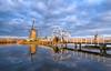 Kinderdijk (Koen Adriaenssen) Tags: kinderdijk rotterdam landscape mill water bridge reflection sunset sunrise sky blue canon 1d iv irix 15mm