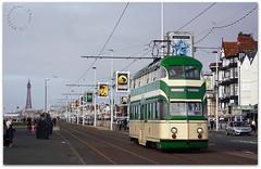 Blackpool Balloon Tram No.717 (zweiblumen) Tags: tram blackpool lancashire england uk balloon 717 canoneos50d canonef50mmf14usm polariser zweiblumen vintage picmonkey pleasurebeach englishelectric 1934 walterluff blackpooltransport