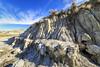 Badland Trail, Dinosaur Provincial Park, Alberta (aud.watson) Tags: canada alberta albertaprairie newellcounty dinosaurprovincialpark reddeerriver worldheritagesite sedimentaryrock aridregion grassland prairie badlands sandstone mudstone sandstonecliffs badlandtrail hoodoos canyons ravine ravines gully gullies iddesleigh landscape erosion rill rills