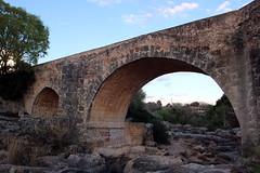 pont sobre la llera seca del riu Sènia (puigoll. Josep Puighermanal i Lluïsa Valls) Tags: pont riu roques llera arbres puente rio rocas cauce árboles riverbed rocks trees river bridge
