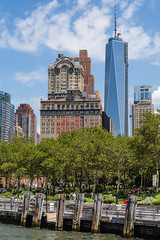 Bryant Park, New York (Oleg.A) Tags: spring newyork landscape manhattan nature water brick city cityscape hudsonriver materials town building orange batterypark summer skyscraper green blue midday tower outdoor people style park design architecture sky usa nyc america landscapes noon outdoors