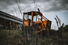 Abandoned/2 (trevormarron) Tags: tractor abandoned desolate overcast field landscape orange cloudy moody weathered worn