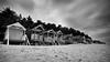 Beach Huts at Wells Next-The-Sea (Miles From Nowhere Photography) Tags: mono monochrome bw blackandwhite blackwhite beach wells huts
